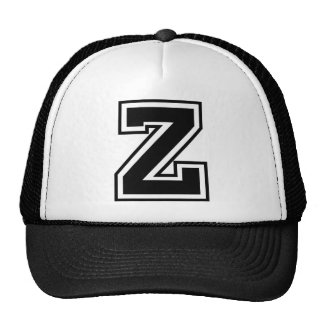Letter Z monogram Trucker Hats