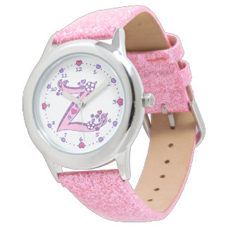 Letter Z pink monogram personalized girls watch