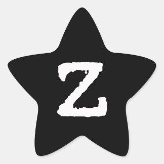 Letter Z Star Sticker