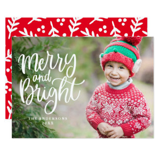 Lettered Holiday Photo Card