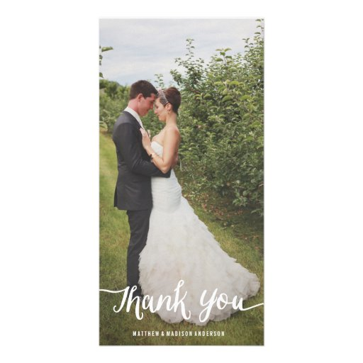 Lettered Overlay   Wedding Thank You Photo Card