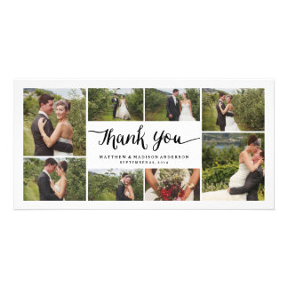 Lettered | Wedding Thank You Photo Card