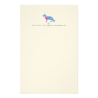 Letterhead Cool Watercolor German Shepherd Dog
