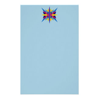 Letterhead with Art Deco Star Header Customized Stationery