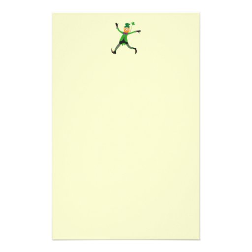 Letterhead with Cute Leprechaun Stationery Design