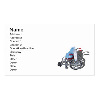 Letterman Jacket Wheelchair Double-Sided Standard Business Cards (Pack Of 100)