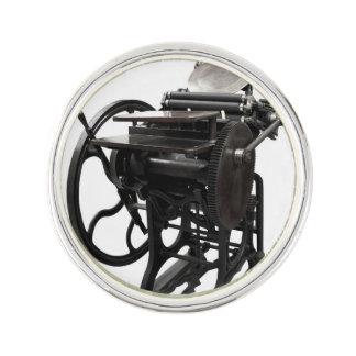 Letterpress 1888 lapel pin