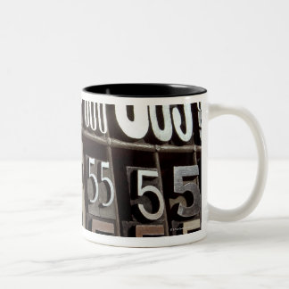 Letterpress 2 Two-Tone coffee mug
