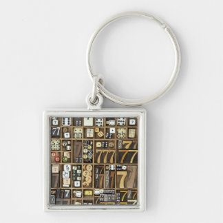 Letterpress 4 key ring