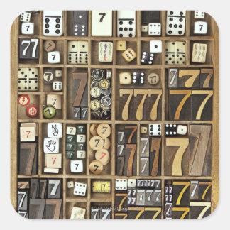 Letterpress 4 square sticker