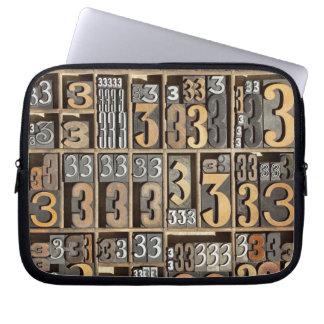 Letterpress 5 laptop sleeve