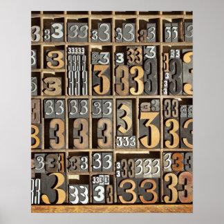 Letterpress 5 poster