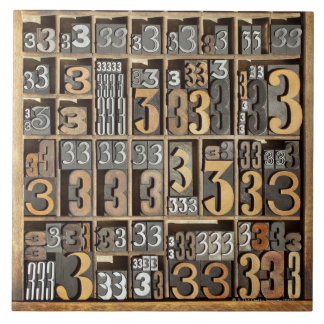 Letterpress 5 tile