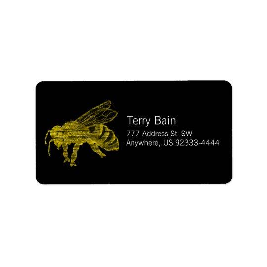Letterpress Bee Label
