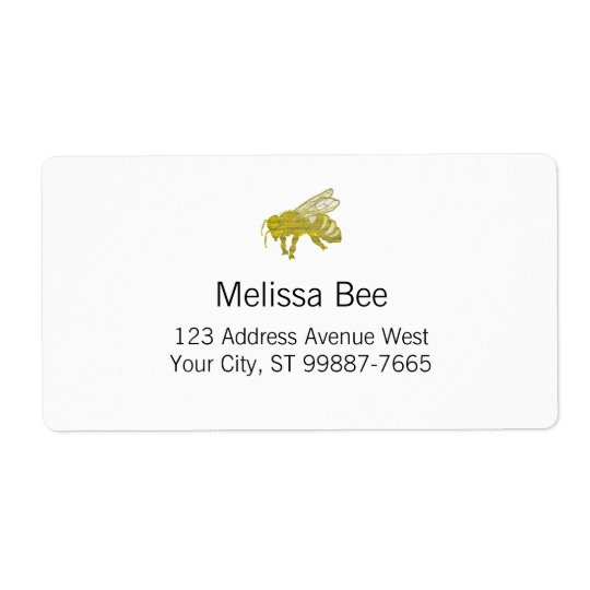 Letterpress Bee Shipping Label