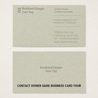 Letterpress Business Man Company Business Card
