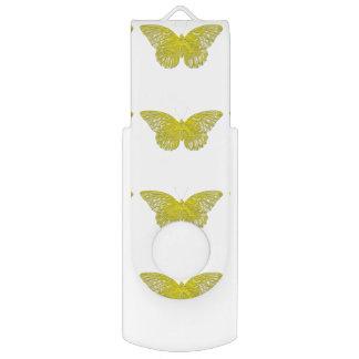 Letterpress Butterfly Swivel USB 2.0 Flash Drive