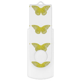 Letterpress Butterfly USB Flash Drive