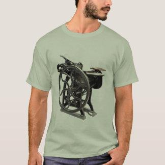 letterpress machine basic t-shirt