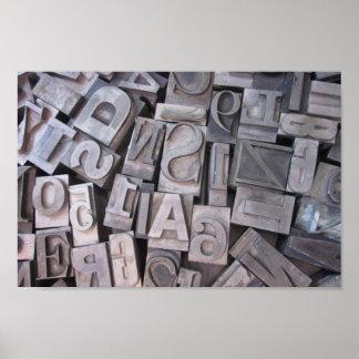 Letterpress Metal Type Poster