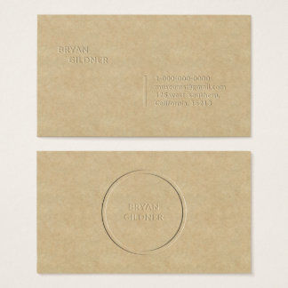 Letterpress Personal Business Card
