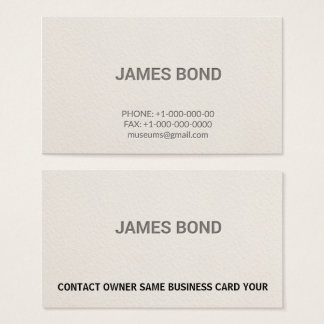 Letterpress Personsal Professional Business Card