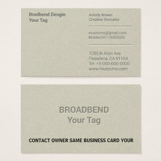 Letterpress Simple Business Man Company Business Card
