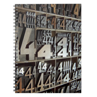 Letterpress Spiral Notebook