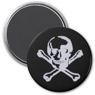 Letterpress Style Jolly Roger Refrigerator Magnets