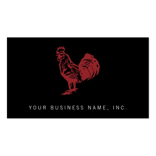 Letterpress Style Red Rooster Business Card Templates