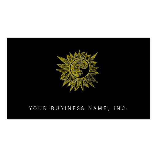 Letterpress Style Sun Business Card Template