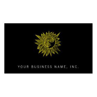 Letterpress Style Sun Pack Of Standard Business Cards