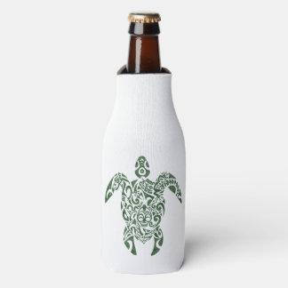 Letterpress Tribal Style Turtle Bottle Cooler