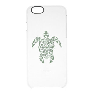 Letterpress Tribal Style Turtle Clear iPhone 6/6S Case