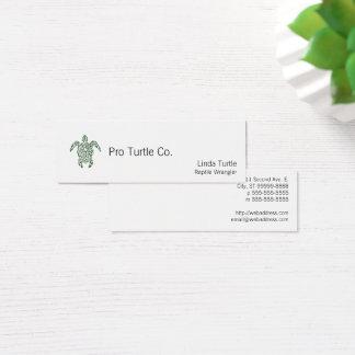 Letterpress Tribal Style Turtle Mini Business Card