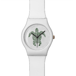 Letterpress Tribal Style Turtle Watch
