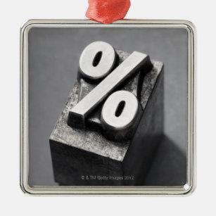 % Letterpress type Christmas Ornament
