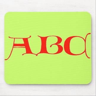 Letters ABC Mouse Pad