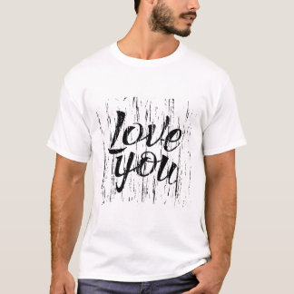 Letters calligraphy, love you, hand drawing T-Shirt
