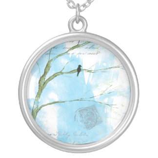Letters From Home Round Pendant Necklace Art