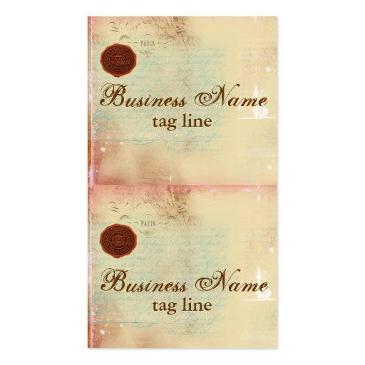 Letters from Paris Elegant Mini Card Tags II Business Card