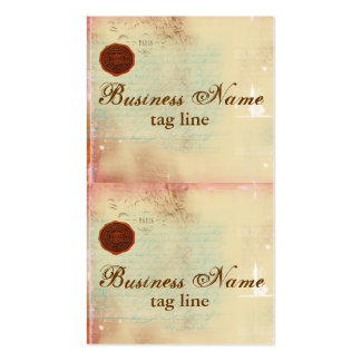 Letters from Paris Elegant Mini Card Tags II Pack Of Standard Business Cards
