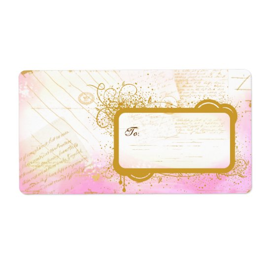 Letters from Paris Pink & Gold Large Labels