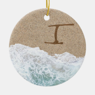 LETTERS IN THE SAND I CHRISTMAS ORNAMENT