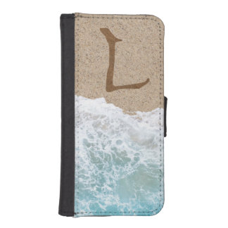 LETTERS IN THE SAND L iPhone SE/5/5s WALLET CASE