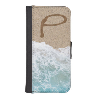 LETTERS IN THE SAND P iPhone SE/5/5s WALLET CASE