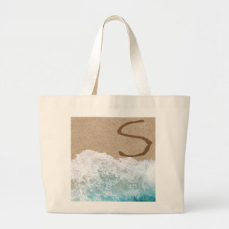 LETTERS IN THE SAND S LARGE TOTE BAG