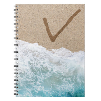 LETTERS IN THE SAND V NOTEBOOK