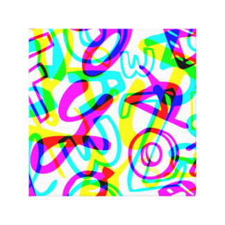 Letters + Numbers Canvas Print