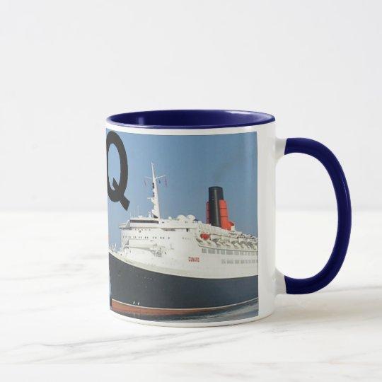 Letters - Q - QE2 (Queen Elizabeth 2) Mug